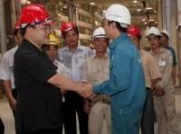 Kiểm tra tiến độ công trường thủy điện Sơn La