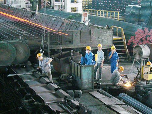 Khu sản xuất thép của Công ty Gang thép Thái Nguyên