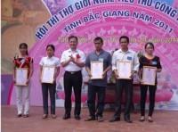 Hội thi thợ giỏi nghề tiểu thủ công nghiệp tỉnh Bắc Giang