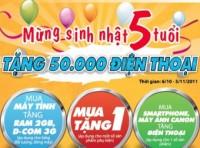 Viettel tặng 50.000 điện thoại mừng sinh nhật