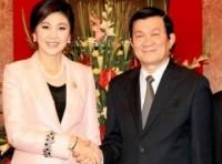 Chủ tịch nước tiếp Thủ tướng Thái Lan Yingluck