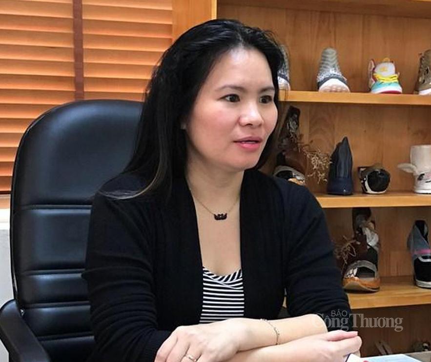 Bà Phan Thị Thanh Xuân- Phó Chủ tịch Hiệp hội Da giày - Túi xách Việt Nam