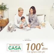 Nệm Amando Casa với chương trình sử dụng 100 đêm miễn phí