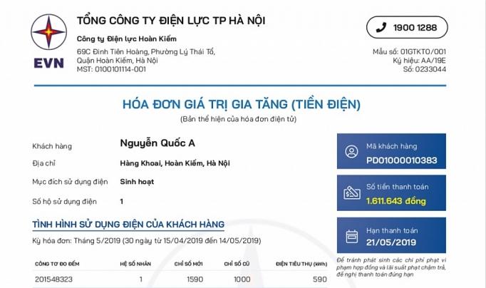 evn phat hanh hoa don va thong bao tien dien moi tu 13
