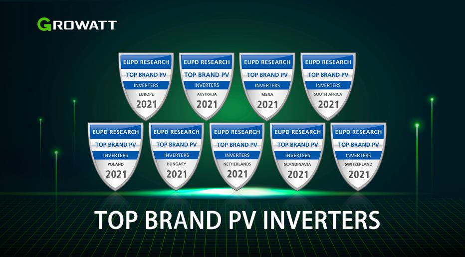 Growatt đón nhận giải thưởng Thương hiệu biến tần PV hàng đầu tại 9 thị trường điện mặt trời trên toàn cầu
