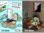 Tiết kiệm điện qua tranh biếm họa: Xem để ngẫm
