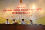 Kỳ họp thứ 5 Quốc hội XIV: Tập trung cho công tác xây dựng pháp luật