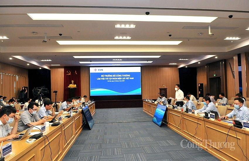 Bộ trưởng Bộ Công Thương Nguyễn Hồng Diên làm việc với Tập đoàn Điện lực Việt Nam