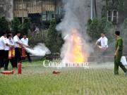 Tập đoàn Điện lực Việt Nam: Diễn tập phòng cháy, chữa cháy