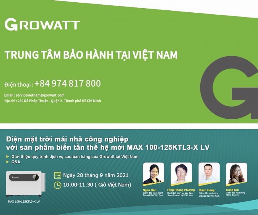 Growatt giới thiệu dịch vụ hậu mãi tại Việt Nam