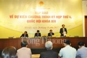 Kỳ họp thứ 4, Quốc hội khóa XIV: Giảm thời gian báo cáo, tăng thời gian thảo luận tại hội trường