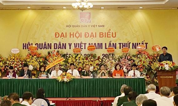 Đại hội đại biểu Hội Quân dân y Việt Nam lần thứ nhất, nhiệm kỳ 2020 - 2025 diễn ra tại Hà Nội, sáng 11-7-2020