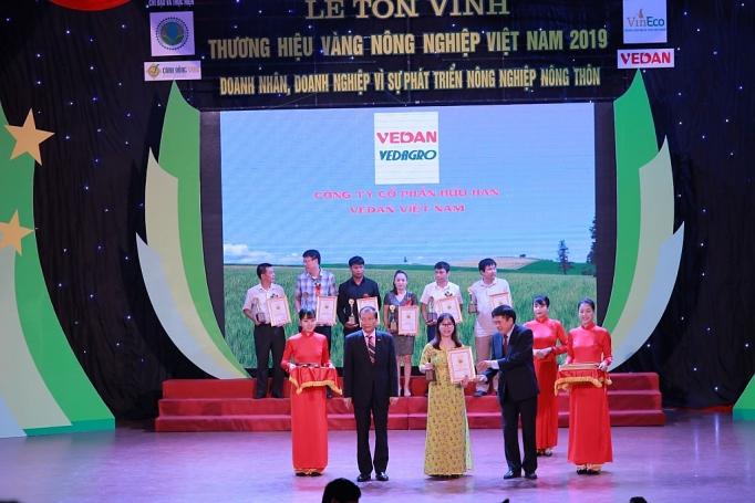 cong ty vedan viet nam dat giai thuong thuong hieu vang nong nghiep viet nam nam 2019