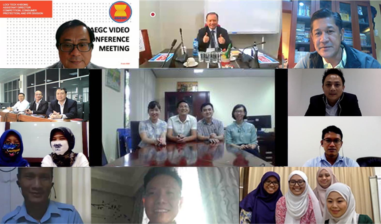 Cuộc họp Nhóm chuyên gia cạnh tranh ASEAN (Nhóm AEGC) trực tuyến lần thứ nhất