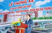 Đưa cầu vượt nút giao Ô Đông Mác - Nguyễn Khoái vào hoạt động