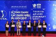 Tôn vinh các danh hiệu du lịch 2017