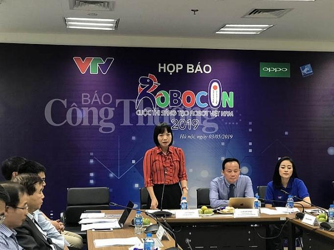 Ban tổ chức Cuộc thi Robocon Việt Nam 2019 họp báo thông tin về vòng chung kết diễn ra tại Hải Dương