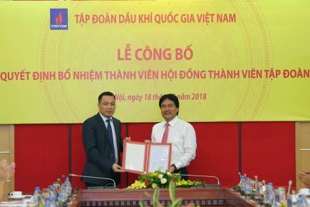 Ông Nguyễn Hùng Dũng được bổ nhiệm giữ chức vụ Thành viên HĐTV PVN