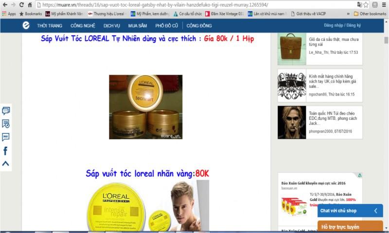 L'Oreal cảnh báo về hai sản phẩm giả sáp vuốt tóc và gel vuốt tóc