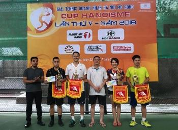 giai tennis doanh nhan ha noi mo rong lan thu v nam 2018