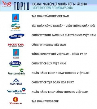 pvn dung dau top 10 doanh nghiep loi nhuan tot nhat nam 2018