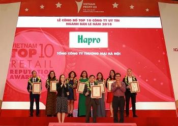 hapro lot top 10 cong ty uy tin nganh ban le nam 2018
