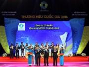 Tôn Thăng Long vinh dự nhận giải Thương hiệu quốc gia 2016