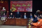 Bí thư Thành ủy Hoàng Trung Hải  thăm và chúc Tết công nhân viên EVN HANOI