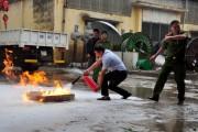 EVN HANOI: Huấn luyện công tác phòng cháy chữa cháy cho các học viên
