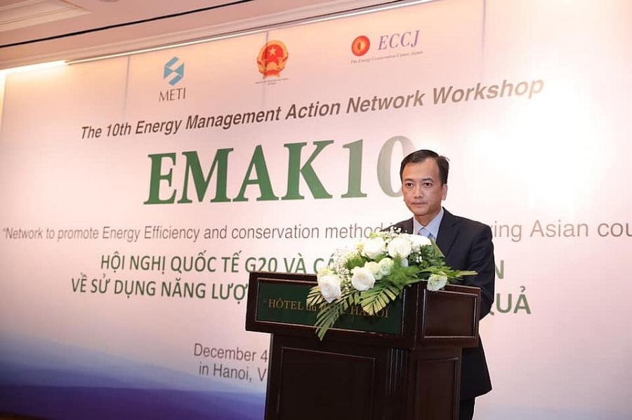 Ông Trịnh Quốc Vũ- Phó Vụ trưởng Vụ Tiết kiệm năng lượng và Phát triển bền vững phát biểu tại Hội nghị