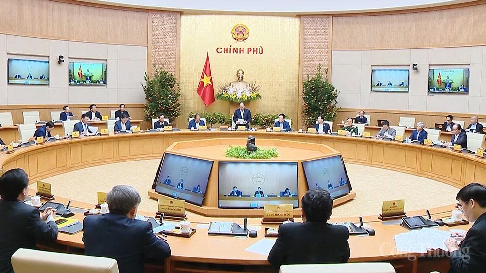 Chính phủ họp phiên đầu năm, quyết nhiều chủ trương lớn