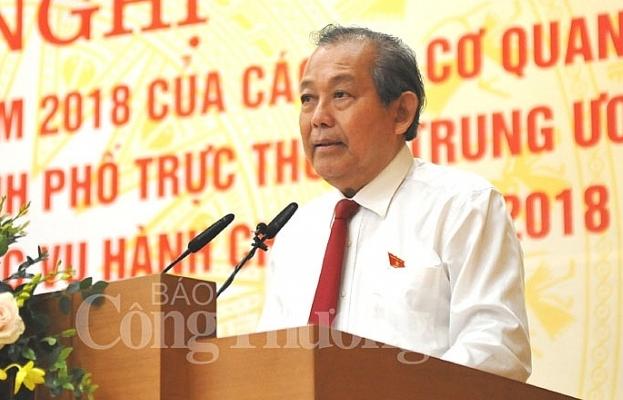cong bo chi so cai cach hanh chinh bo cong thuong dung thu 518
