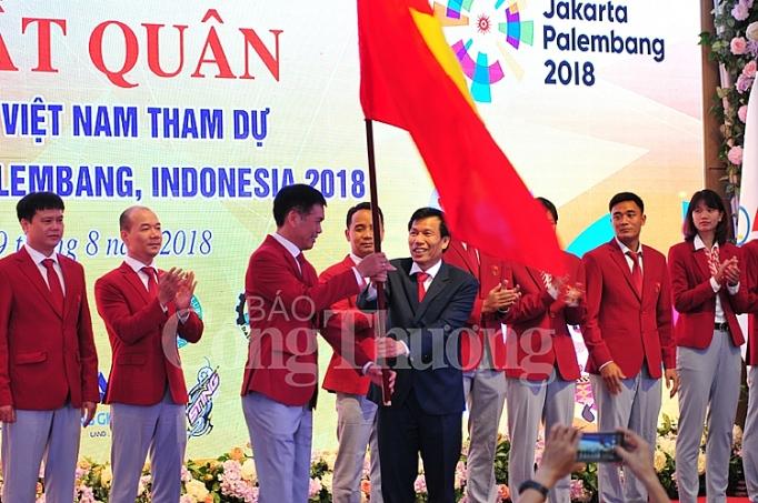 doan the thao viet nam xuat quan du asiad 2018 tai indonesia