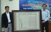 Tiếp nhận bản đồ lịch sử Hoàng Sa có giá trị nhất