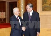 Tổng Bí thư hội kiến với Chủ tịch Chính Hiệp Trung Quốc