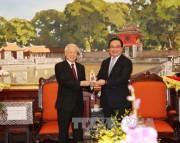 Tổng Bí thư thăm, chúc Tết Đảng bộ, chính quyền, nhân dân Hà Nội