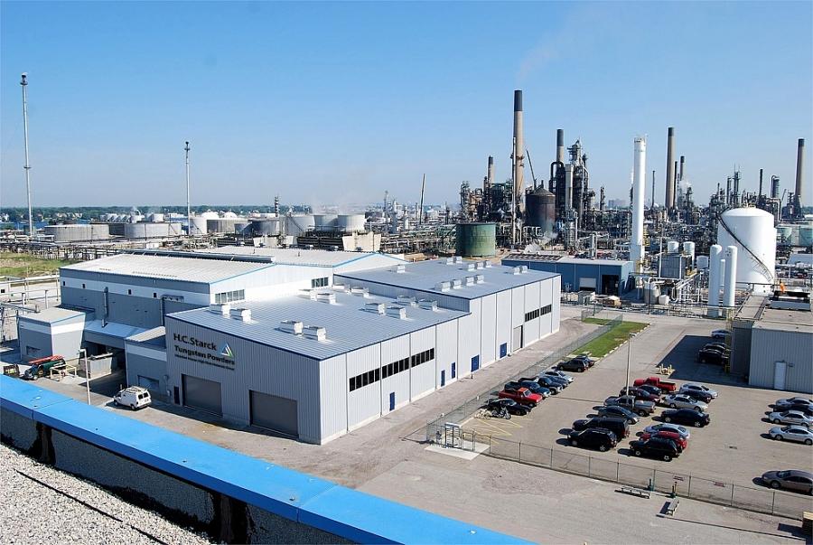 Nhà máy H.C. Starck nhà sản xuất bột vonfram toàn cầu tại Sarnia, Canada
