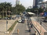 Hà Nội: Kiểm tra, xử lý nghiêm phương tiện lấn làn xe buýt nhanh BRT