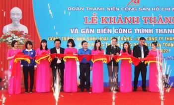 Trung ương đoàn gắn biển công trình thanh niên tại Công ty Than Quang Hanh