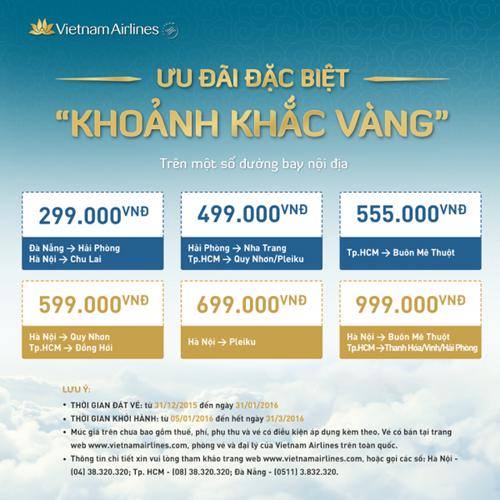 Bay giá rẻ cùng Vietnam Airlines