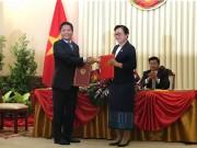 Bộ Công Thương Việt Nam ký kết nhiều văn kiện quan trọng cùng Bộ Công Thương Lào