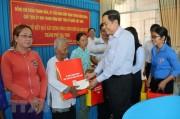 Chúc Tết cổ truyền Chôl Chnăm Thmây của đồng bào Khmer ở Trà Vinh