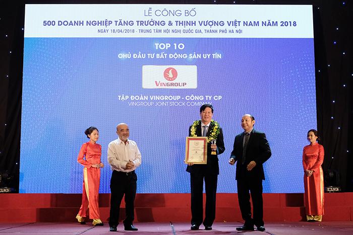 Vingroup 3 năm liên tục là chủ đầu tư bất động sản uy tín nhất Việt Nam