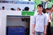 Sinh viên chế máy làm giá đỗ tự động được quân đội đặt mua