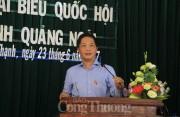 Bộ trưởng Bộ Công Thương Trần Tuấn Anh tiếp xúc cử tri tại tỉnh Quảng Ngãi