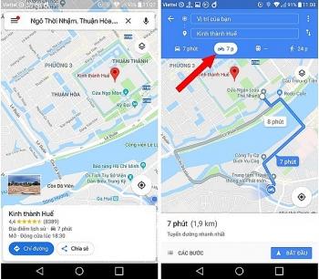 google maps bo sung tinh nang dan duong cho nguoi di xe may tai viet nam