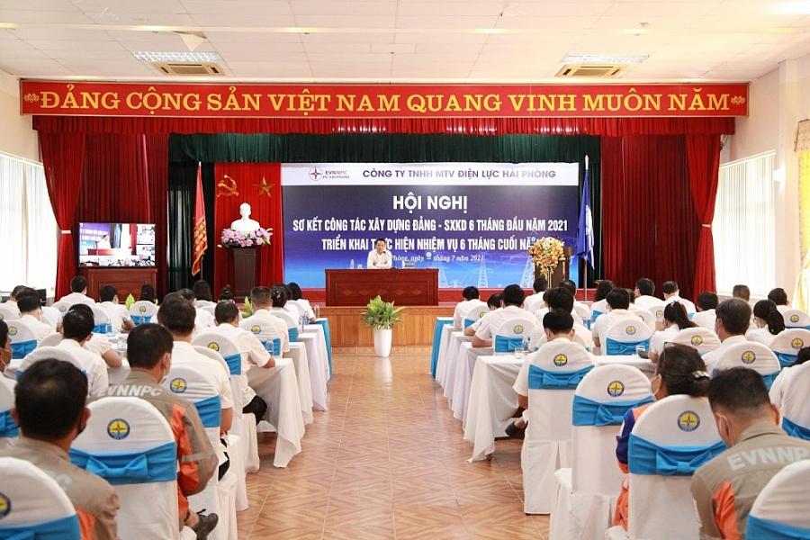 PC Hải Phòng: Hội nghị sơ kết công tác đảng, công tác sản xuất kinh doanh 6 tháng năm 2021