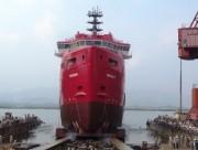Hạ thủy tàu dịch vụ dầu khí hiện đại