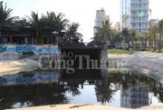Đà Nẵng yêu cầu dừng xả nước tại công trình khách sạn gây tràn nước thải ra khu vực ven biển