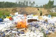 Đồng Tháp tiêu hủy 112.000 bao thuốc lá lậu, thuốc lá giả